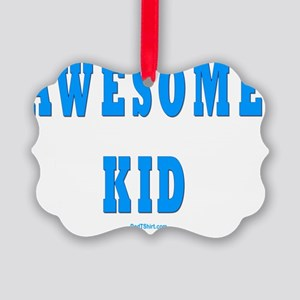Awesome Kid 3 flat Picture Ornament