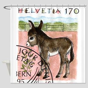 Vintage 1995 Switzerland Donkey Postage Stamp Show