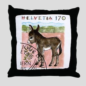 Vintage 1995 Switzerland Donkey Postage Stamp Thro