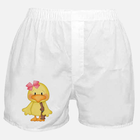 Duck with Chocolate bunny Boxer Shorts