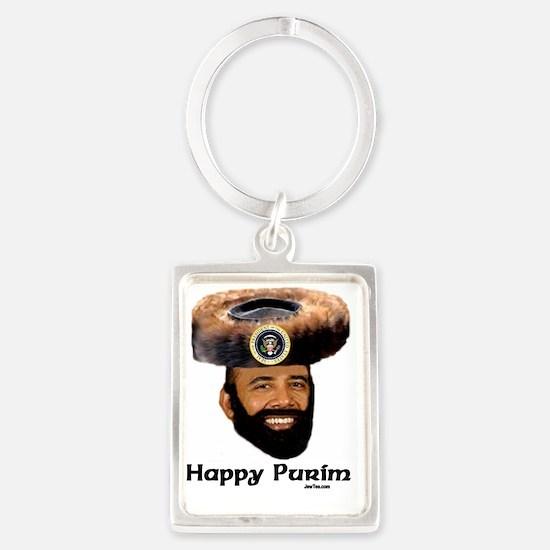 Obama Purim Portrait Keychain