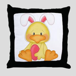 Duck bunny Throw Pillow