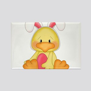 Duck bunny Rectangle Magnet