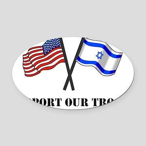 American Israeli Flags 3 Oval Car Magnet