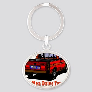 rEAL MNE DRIVE TRUCKS Oval Keychain