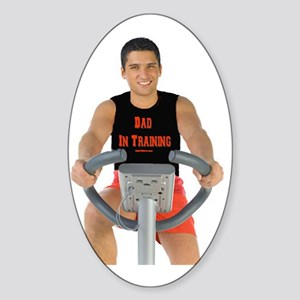 Dad In Training Top Sticker (Oval)
