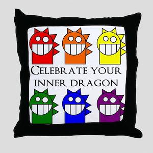 Inner Dragon Throw Pillow