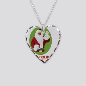 3-Obama Santa 10 flat Necklace Heart Charm