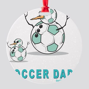 Soccer Dad 2 flat Round Ornament