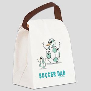 Soccer Dad 2 flat Canvas Lunch Bag