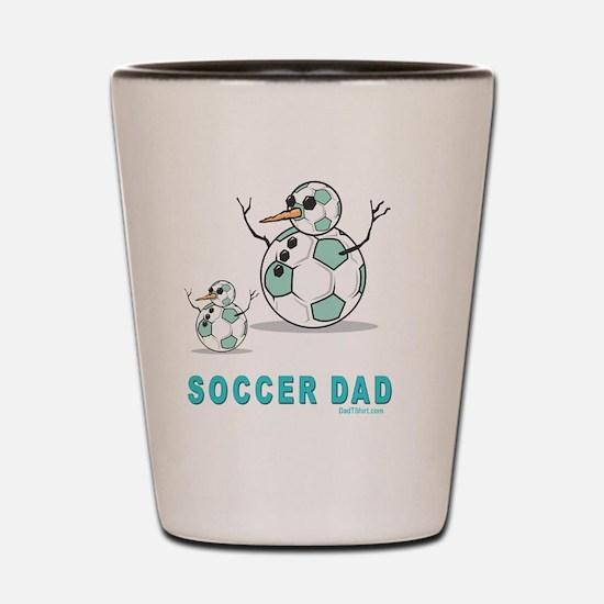 Soccer Dad 2 flat Shot Glass