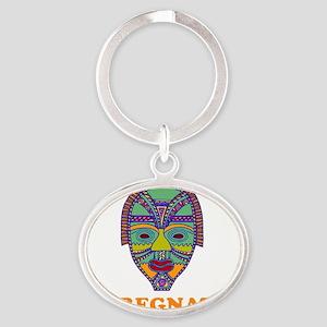 impregnator mask flat Oval Keychain