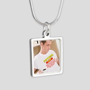 Toyoda Man Silver Square Necklace