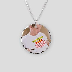 Toyoda Man Necklace Circle Charm