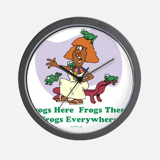â??Frogs Everywhere 2â?� flat Wall Clock