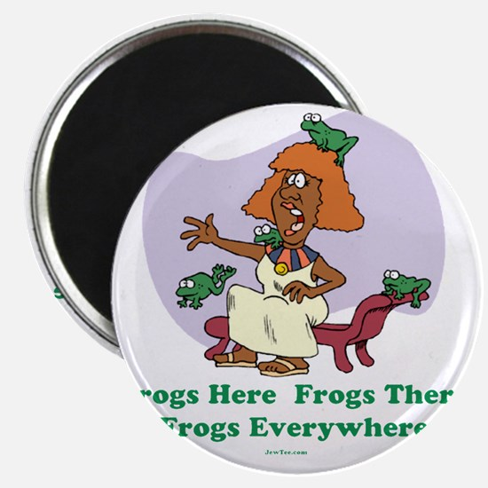 â??Frogs Everywhere 2â?� flat Magnet
