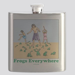 Frogs Everywhere flat Flask