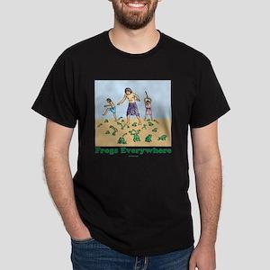 Frogs Everywhere flat Dark T-Shirt