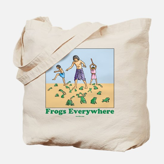 Frogs Everywhere flat Tote Bag