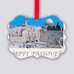 HAPPY PASSOVER  Jerusalem Picture Ornament