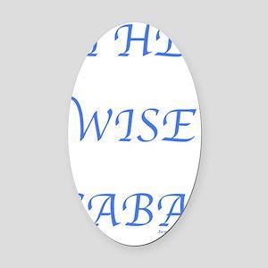 WISE SABA flat  Oval Car Magnet