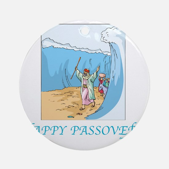 HAPPY PASSOVER CARD 1 Round Ornament