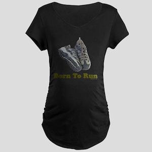 3-Born to Run flat Maternity Dark T-Shirt
