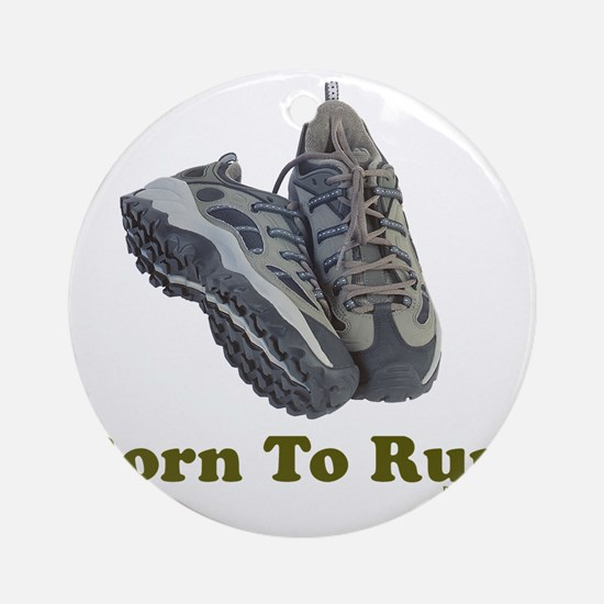 3-Born to Run flat Round Ornament