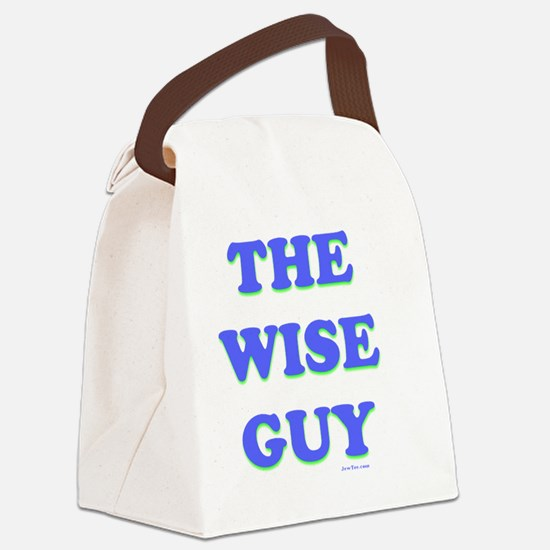 The Wise Guy flat Canvas Lunch Bag