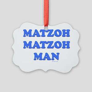 3-Matzoh Man 1 flat Picture Ornament