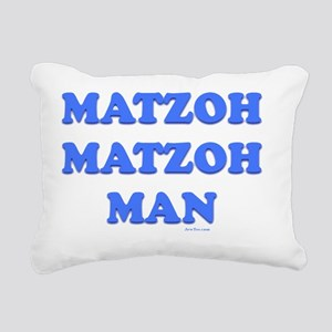 3-Matzoh Man 1 flat Rectangular Canvas Pillow