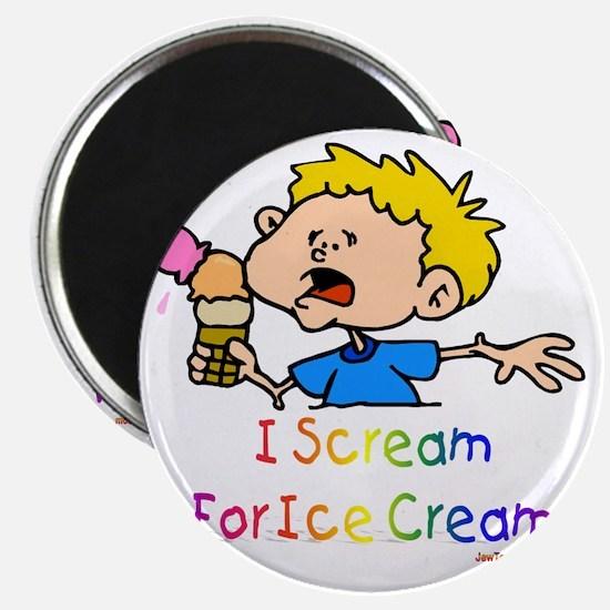 3-I Scream Ice Cream flat Magnet