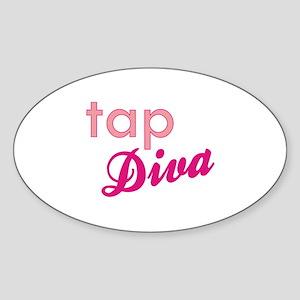 Tap Diva Oval Sticker
