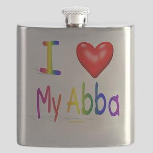 I Love My Abba flat Flask