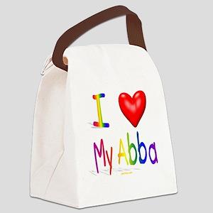 I Love My Abba flat Canvas Lunch Bag
