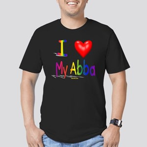 I Love My Abba flat Men's Fitted T-Shirt (dark)