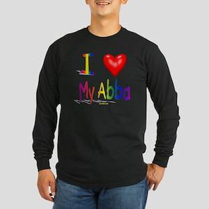 I Love My Abba flat Long Sleeve Dark T-Shirt