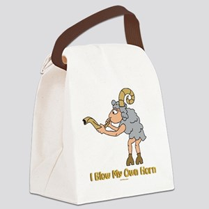 Blow My Own Horn flat 4 Canvas Lunch Bag