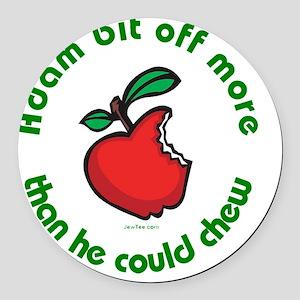 Adam Apple JewTee flat2 Round Car Magnet
