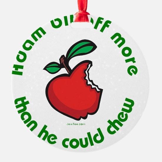 Adam Apple JewTee flat2 Ornament