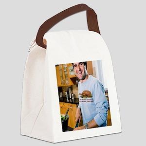 Tough Man Tender Bird Man Canvas Lunch Bag