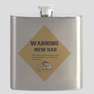 Warning New Dad 2 flat Flask