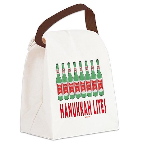 Hanukkah Lites flat Canvas Lunch Bag