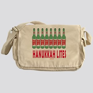 Hanukkah Lites flat Messenger Bag