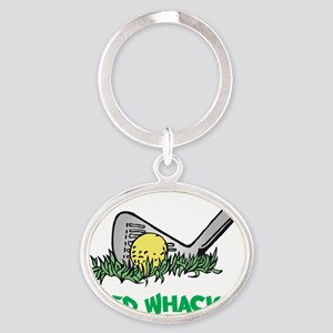 Weed Whacker flat Oval Keychain