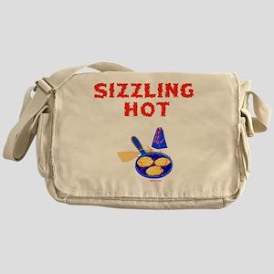 Sizzling Latke flat Messenger Bag