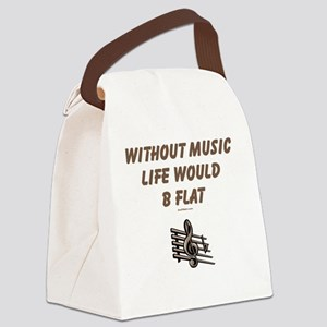 Be Flat 3 flat Canvas Lunch Bag