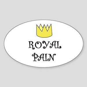 ROYAL PAIN Oval Sticker