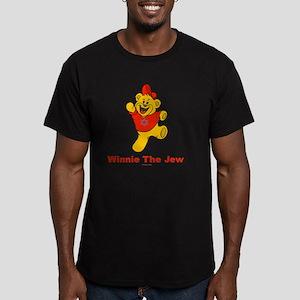 Winnie tHe Jew flat Men's Fitted T-Shirt (dark)