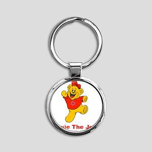 Winnie tHe Jew flat Round Keychain